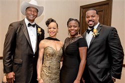 Mel and TiAnda Blount, left, and Christy and Joey Porter.