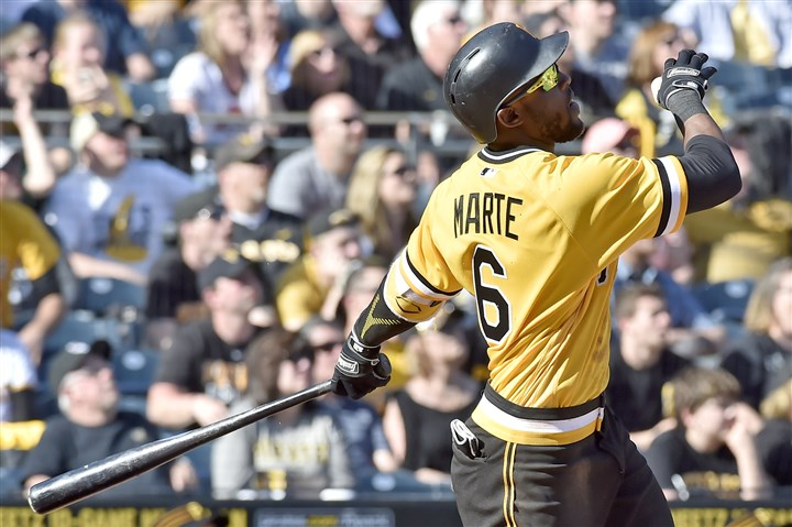 20170409mfbucssports13-2 Starling Marte won't be back in the Pirates lineup until July.