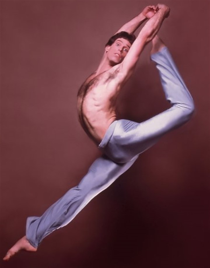 Douglas Bentz Douglas Bentz during his days as a professional dancer in a photo taken by Dance Magazine photographer Jack Mitchell in the 1980s. After a 40-year teaching career at Point Park University, he will retire at the end of the semester.