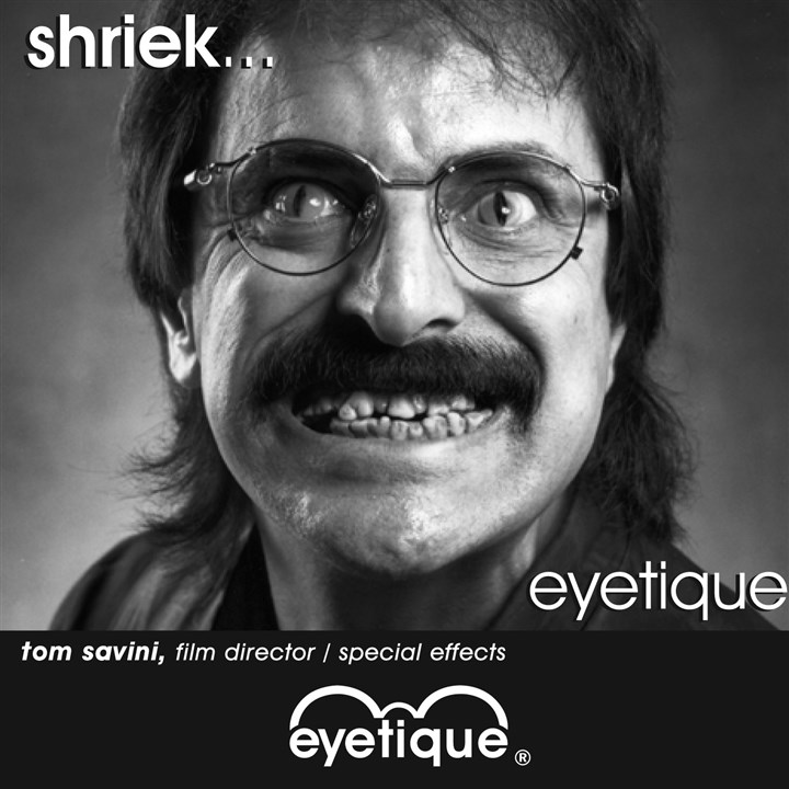 Eyetique ad featuring Tom Savini Eyetique ad featuring Tom Savini.