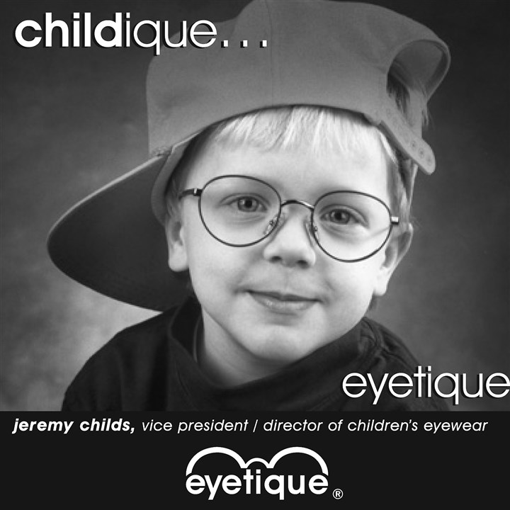 Eyetique ad featuring Norman Childs' son, Jeremy Eyetique ad featuring Norman Childs' son, Jeremy.