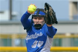 Hempfield pitcher Morgan Ryan is a Notre Dame recruit who has helped the Spartans to a 20-0 record this season.