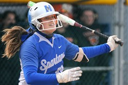 Morgan Ryan has shown she's more than just a pitching ace at Hempfield. The Notre Dame recruit is now the school record-holder in home runs with 13.
