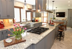 The renovated kitchen of Tom and Becky Vincent's home in Murrysville. The family won the younger category (less than 25 years old) of the PG's Renovation Inspiration Contest.