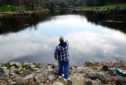 Trout stocking could be curtailed if the legislature doesn't act on funding. Above, a quiet spot at Deer Lakes Park.