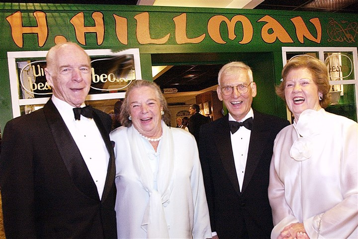 Hillman 10-1 Henry and Elsie Hillman, left, and Dan and Pat Rooney, right, make an appearance for the American Ireland Fund in 2004.