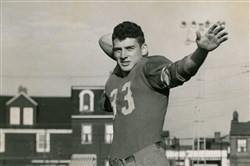 Dan Rooney in 1949 when he was quarterback at North Catholic.