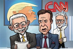 Jake Tapper has been a longtime fan of MAD Magazine and collected MAD issues as a kid; he is humbled by his chance to draw for the magazine.