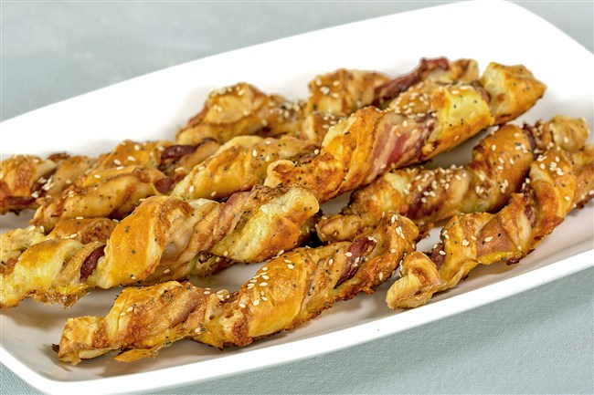Bacon and cheddar twists.