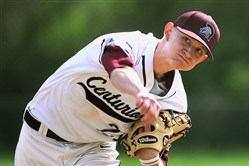 Greensburg Central Catholic's Jack Liberatore is well aware of the new pitch count rule every time he takes the mound.