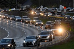 The traffic patterns will change for motorists using Parkway North beginning Saturday.
