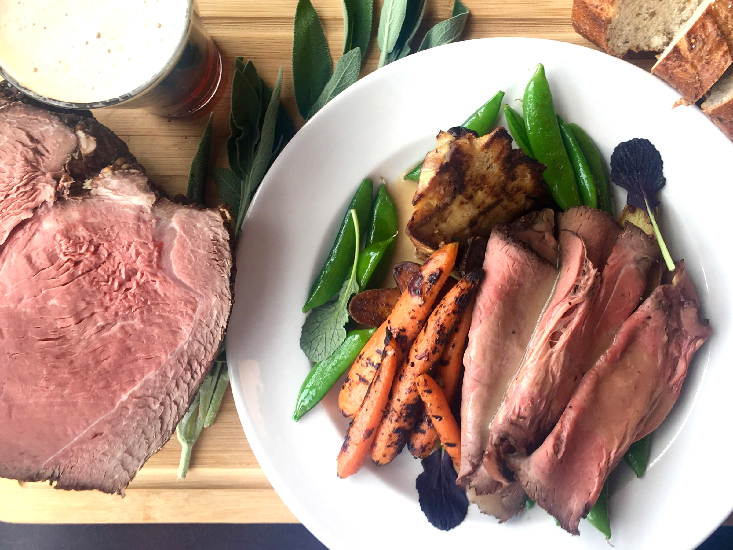 roast block 292 Block 292 will serve roast beef with sugar snap peas, roasted carrots and a wedge of bread pudding at its first Sunday Roast.