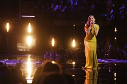 "Lilli Passero sings during Tuesday's show of ""The Voice"" on NBC."