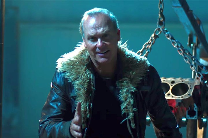 "KeatonStillSpiderMan.jpg Michael Keaton as Adrian Toomes / The Vulture in the trailer for the Sony Pictures release ""Spider-Man: Homecoming."""