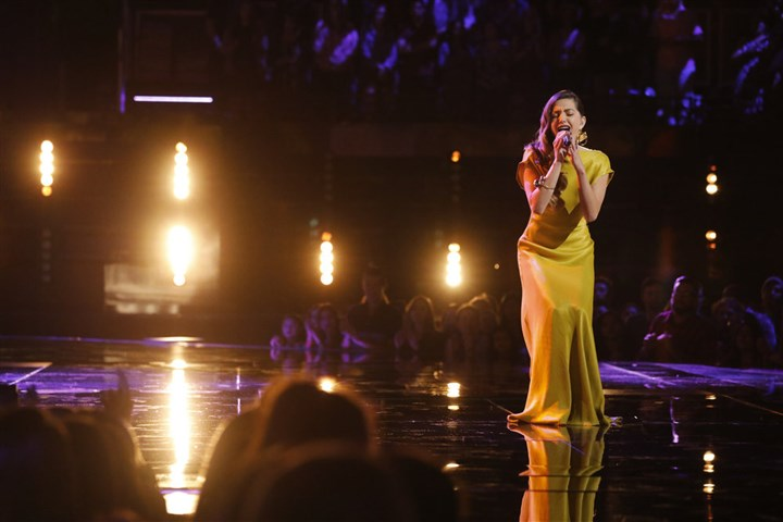 "NUP_177958_2445.JPG Lilli Passero sings during Tuesday's show of ""The Voice"" on NBC."