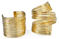 Coil Cuffs from Sandra Cadavid Luxury Handbag & Jewelry Design.