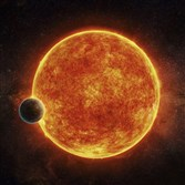 A newly-discovered rocky exoplanet, LHS 1140b, is located in the liquid water habitable zone surrounding its host star.