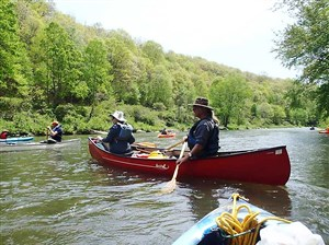 Participants paddle along during last year's Alle-Kiski-Connie Rivers Sojourn. The 20th anniversary sojourn runs May 18-21.