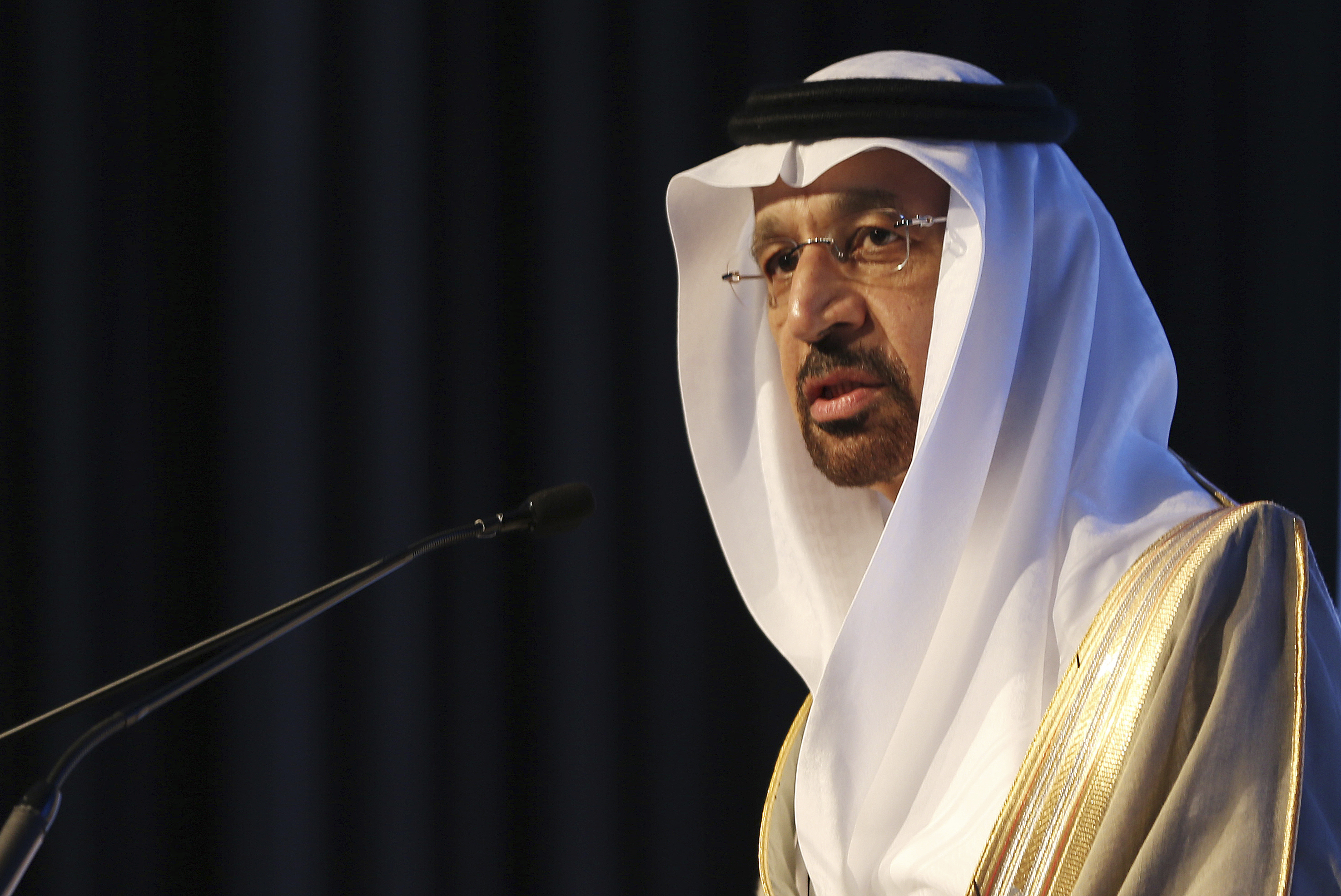 Emirates Oil FILE- In this Jan. 12, 2017 file photo, Saudi's Oil Minister Khalid al-Falih, speaks during an Energy Forum in Abu Dhabi, United Arab Emirates. On Thursday, April 20, 2017, Al-Falih suggested that production cuts agreed to by OPEC members and countries outside of the cartel may need to continue to help shore up crude oil prices. (AP Photo/Kamran Jebreili, File)