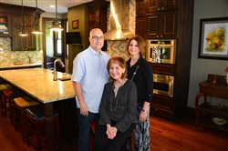 Michael and Helen Trask, shown with her mother, Mitzi Smetters, were winners of the large residential category of the 2016-17 Renovation Inspiration Contest for rehabbing their Crafton home with a suite for Ms. Smetters.