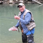 At one pool on Turtle Creek on opening day, Jim Marcinizyn of Trafford released 21 trout caught on pink soft plastics. He kept two for the frying pan.