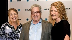 Opening night celebration of the Jewish Film Festival: Iris Samson, left, Jimmy Denova and Kathryn Spitz Cohan.