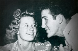 "Mary Louise and husband boxer Billy Conn in the early 1940s. She was 18 when they married and their life together was anything but dull.  The movie made about his life ""The Pittsburgh Kid,"" will be shown at the Row House Cinema in Lawrenceville on Friday night."