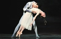 "Yoshiaki Nakano and Amanda Cochrane in Pittsburgh Ballet Theatre's production of Derek Deane's ""Romeo and Juliet."""