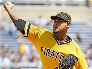 Pirates pitcher Ivan Nova has been outstanding since being acquired in a trade in 2016.