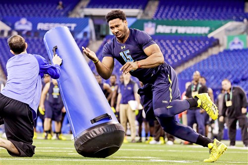 Texas A&M defensive end Myles Garrett could be the No. 1 overall pick in this week's NFL draft. Cleveland has the first pick.