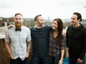 "The cast of the HGTV show ""Steel City Rehab"" from left: Jesse Wig, Kris Bennett, Tara Bennett and Cameron Nicols."