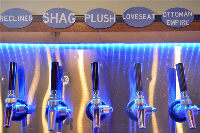 Beers brewed at the Couch Brewery are themed for comfort at the new brewery on Washington Blvd in East Liberty.