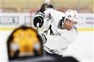 Matt Cullen shoots on Marc-Andre Fleury during practice in April at the UPMC Lemieux Sports Complex in Cranberry.