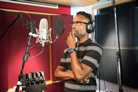 "Billy Porter in the studio recording his latest album, ""The Soul of Richard Rodgers,"" a Sony Masterworks release featuring fellow artists such as Leslie Odom Jr., Renee Elise Goldsberry, Cynthia Erivo, Ledisi and more."