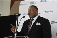 Anthony Hamlet, superintendent of Pittsburgh Public Schools, unveils the city school district's strategic plan at Heinz Field on the North Shore on Thursday.