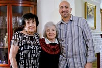 Leila McClain of Canonsburg and her son, Sam, of Orlando, pose with Therese Rocco. As a Pittsburgh police captain, Ms. Rocco helped Ms. McClain find her two children after her husband took them to Seattle in 1969. This was the first time Ms. Rocco met Mr. McClain as an adult.
