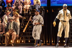 """The Summer King"": Josh Gibson (Alfred Walker) prepares to face Broadway Connie Rector (Gregg Lovelace),"