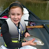 During the trout opener, Ella Yanni, 9, of Gibsonia caught a nice rainbow drifting a minnow from a canoe at North Park Lake.
