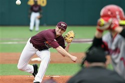 Connor Coward, a Seneca Valley graduate, leads Virginia Tech in wins and innings pitched.