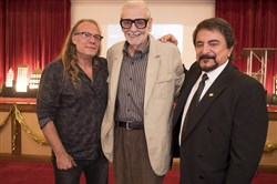 Hollywood and Pittsburgh special effects legends Greg Nicotero, left, George Romero and Tom Savini.