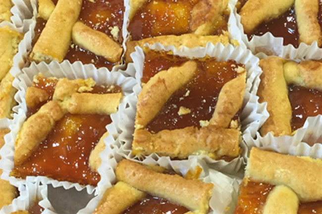 Pasta flora, a latticed topped apricot tart, will be sold at St. Nicholas Church's Greek Food Festival.
