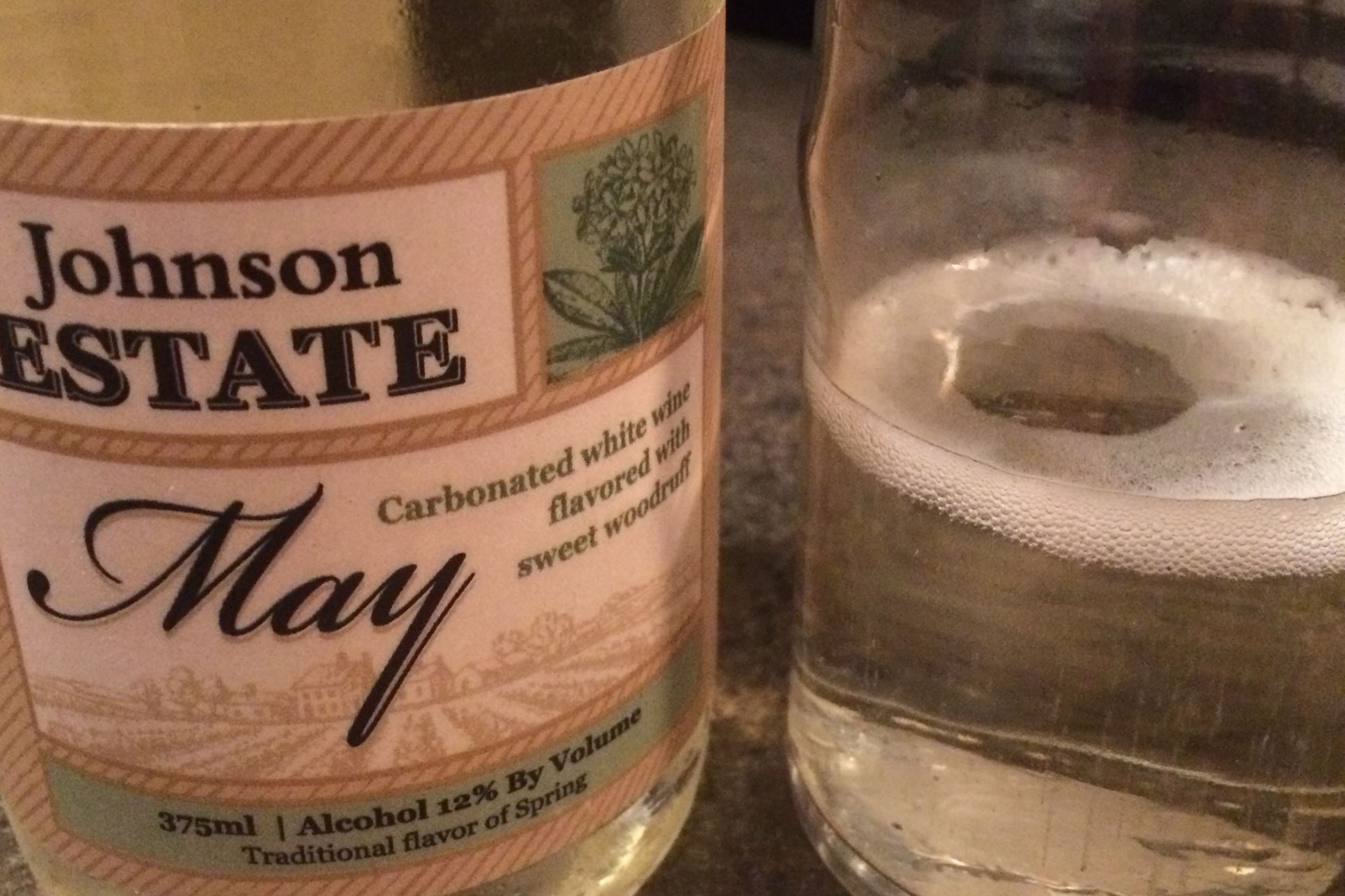 johnson Johnson Estate Winery's May wine is a carbonated sweet white infused with sweet woodruff.