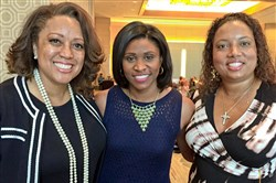 From left: honorary chair Candi Castleberry Singleton, WPXI-TV's Brittny McGraw and honorary chair Latasha Wilson Batch.