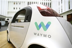 The Waymo driverless car is displayed during a Google event in December in San Francisco. Waymo alleges that a former engineer took the company's secrets to Uber. A federal judge has ordered Uber to return confidential material that downloaded from the Google spinoff.