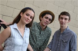 "Prime Stage ""Perks of Being a Wallflower"" photo by John Fries  Cast members Julia Zoratto, Logan Shiller and Peter Joseph Kelley Stamerra"