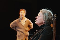 "Sharon Brady, right, has lost her place as woman of the house to Karen Baum in PICT Classic Theatre's ""Sive,"" at Union Project in Highland Park."