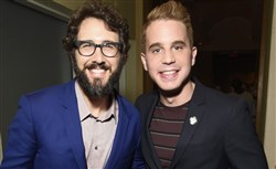 Josh Groban and Ben Platt attend the 2017 Tony Awards Meet The Nominees press gathering in New York City Wednesday.