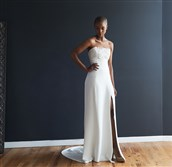 A wedding gown that will be available at Luna boutique.