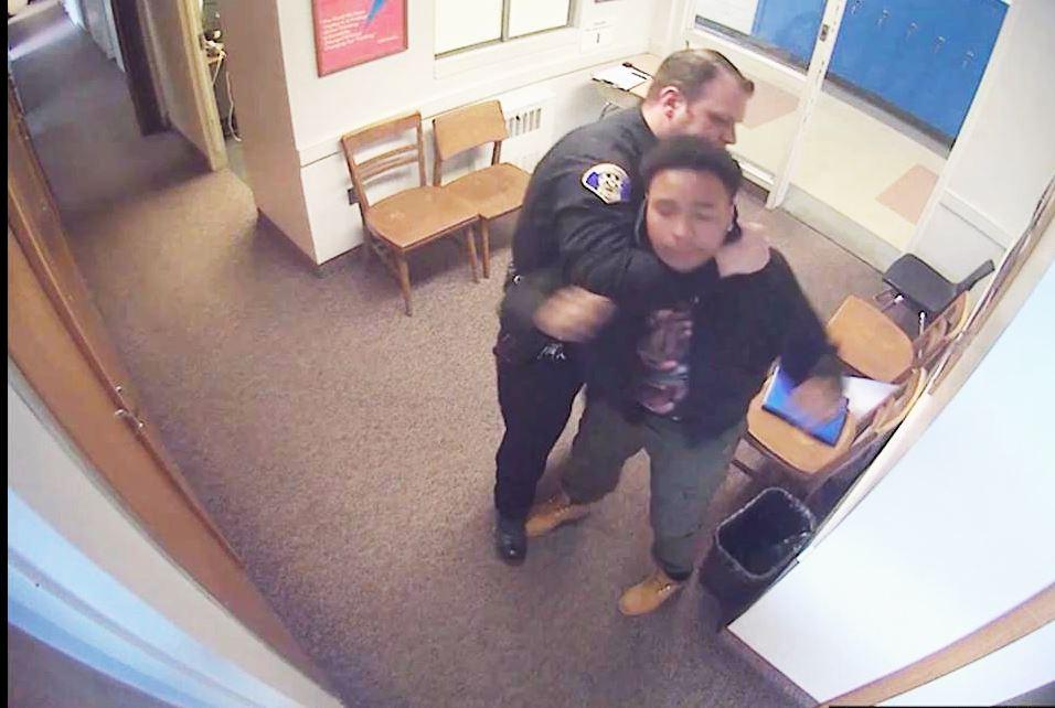 Video Captures School Cop Allegedly Assaulting Kids