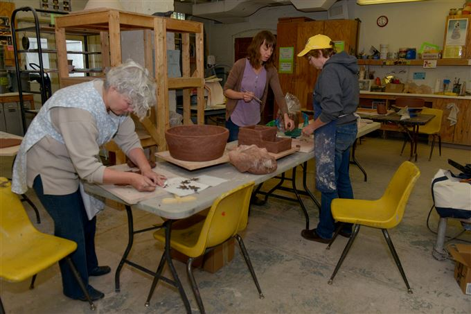 The ceramics room at Sweetwater Center for the Arts in Sewickley.